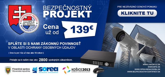 Bezpečnostný projekt pre kamerové systémy