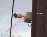 Montáž,inštalácia bezpečnostnej infra kamery na stĺp elektrického vedenia-detailné zobrazenie