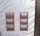 elektroinštalácia-dekoratívne-vypínače-kožený-rám-skompletizovanie