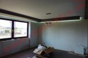 Inštalácia, montáž, profesionálne RGB LED osvetlenie, dekoračný podhľad - strop novostavba