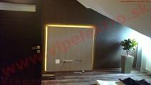 Inštalácia, montáž - dekoračné LED podsvietenie skryté za stenou