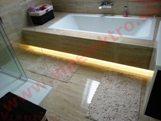 Inštalácia, montáž - domácnosť - kúpeľňa - dekoračné LED osvetlenie - skrytý RGB LED pás