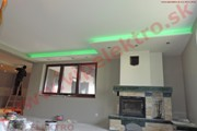 Montáž, inštalácia, realizácia profesionálneho LED osvetlenia a RGB LED pásov - novostavba