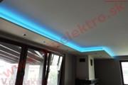 Montáž, realizácia profesionálneho LED osvetlenia - RGB LED pás, strop-novostavba