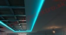 Montáž dekoračného LED osvetlenia - napnutého stropu RGB LED pás
