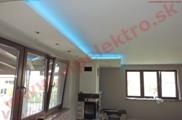 Profesionálne LED osvetlenie - inštalácia strop, RGB LED pás na novostavbe