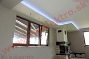 Profesionálne LED osvetlenie - pohľad zdola montáž,inštalácia na novostavbe