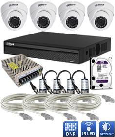 Cena montáže - inštalácie hybridný HDCVI kamerový systém