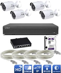 Cena montáže - inštalácie digitálny IP kamerový systém